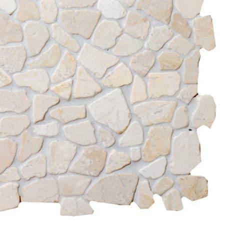 Mosaik vit marmor