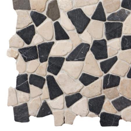 Mosaik grå-vit marmor