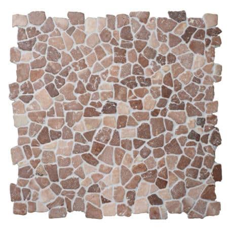 Mosaik kokosbrun marmor
