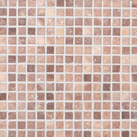 kokosbrun marmor mosaik 20x20mm