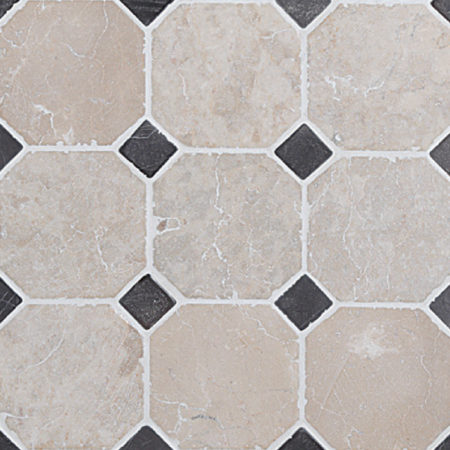 klassiskt mönster vit-grå marmor, 100x100mm