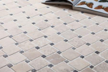DIAGONAL vit-grå mosaik 50x50mm