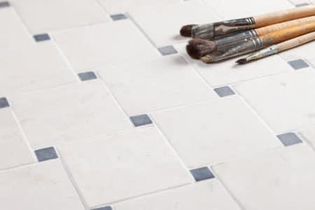 DIAGONAL vit-grå mosaik 100x100mm