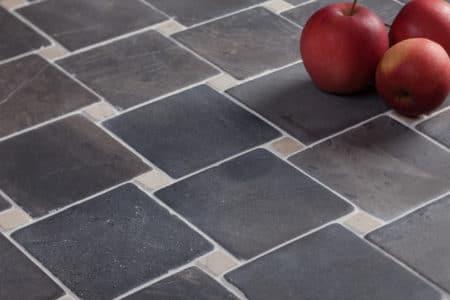 DIAGONAL grå-vit mosaik 100x100mm