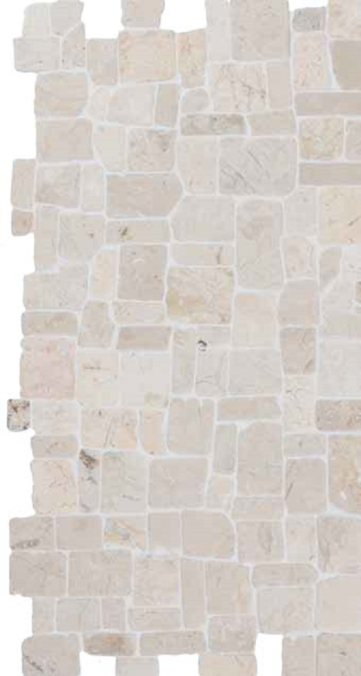 White Roman Interlock 300x300mm väggplatta