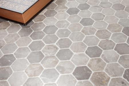 Hexagon ljusgrå 60x60mm