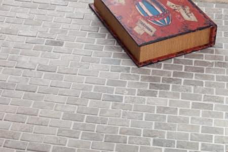 Brick Mini ljusgrå marmor mosaik