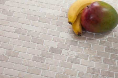 Brick Mini vit marmor mosaik