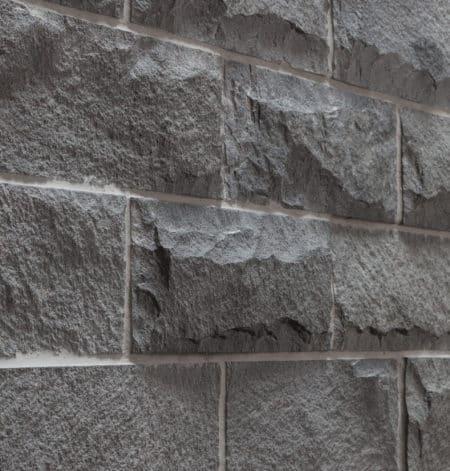 vägg / fasadsten Andesite grå, mejslad