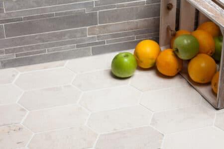 Picket 100x200mm vit marmor